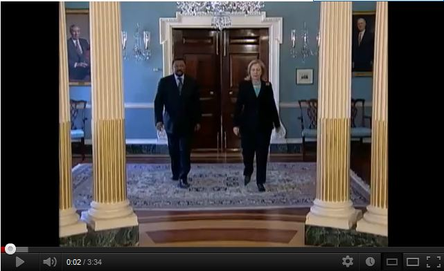 Secretary Clinton Meets With African Union Commission Chairperson Ping