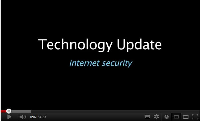 Technology Update – internet security