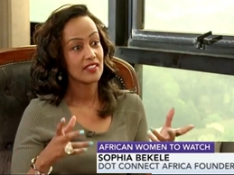 Sophia Bekele on Bloomberg Tv Africa; African Women To Watch