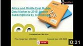 Africa and Middle East Mobile Data Market to 2015: Mobile Subscriptions by Technology