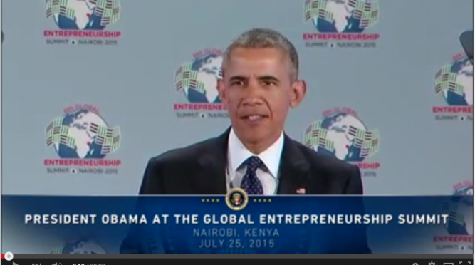 The President Speaks at the Global Entrepreneurship Summit, July 25, 2015