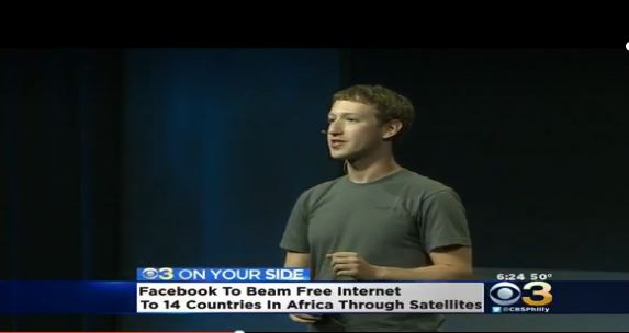 Facebook To Satelite Beam Free Internet to 14 African Countries