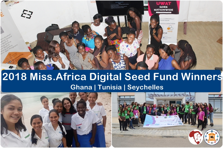 Miss Africa Digital Seed Fund Winners 2018