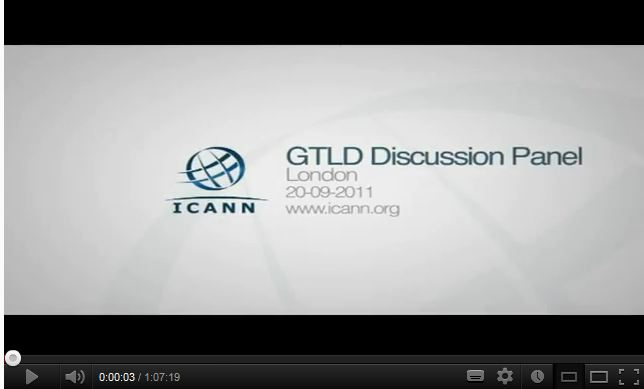 ICANN new gTLD discussion panel