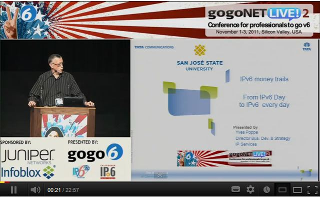 Keynote: From IPv6 Day to IPv6 every Day by Yves Poppe