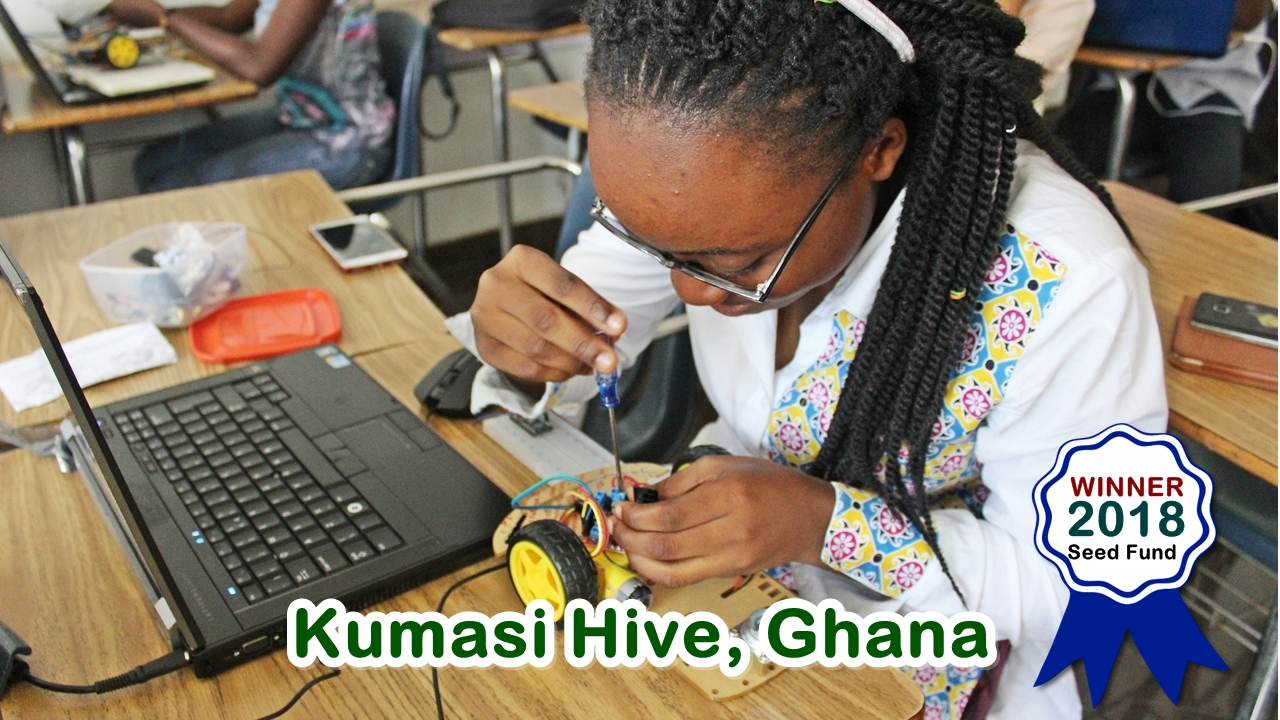 Kumasi Hive is the Grand Prize winner of the 2018, 5000 USD Miss.Africa Seed Fund