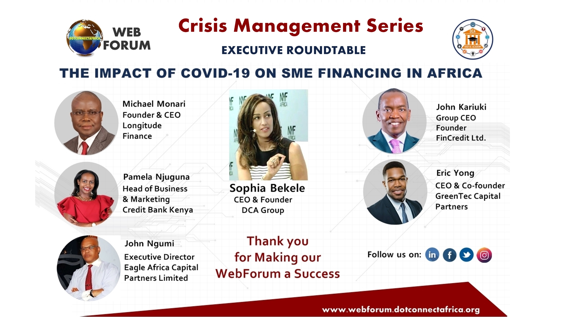You're Invited: The Impact of COVID-19 on SME Financing in Africa